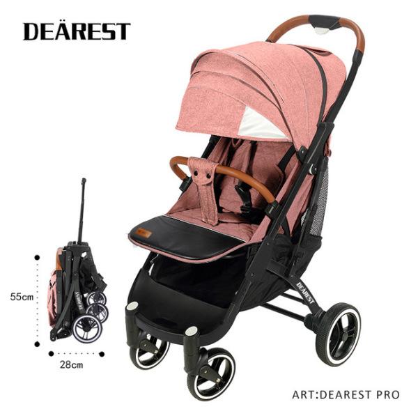 [DEAREST PRO]Yoya Plus Pro Upgrated Quick Folding Cabin Size Lightweight Lite Baby Stroller Tie Rod Skylight Pram with Reflective Safety Strip Singapore
