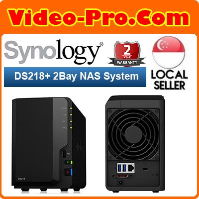 Synology Ds218+ Diskless System Nas Diskstation Intel Celeron J3355 Dual-Core 2.0 Ghz 2gb Ddr3l By Video-Pro Pte Ltd.