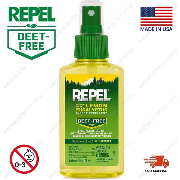 Buy Repel Plant-Based Lemon Eucalyptus Insect Repellent Pump Spray (4fl-oz / 118ml) Singapore