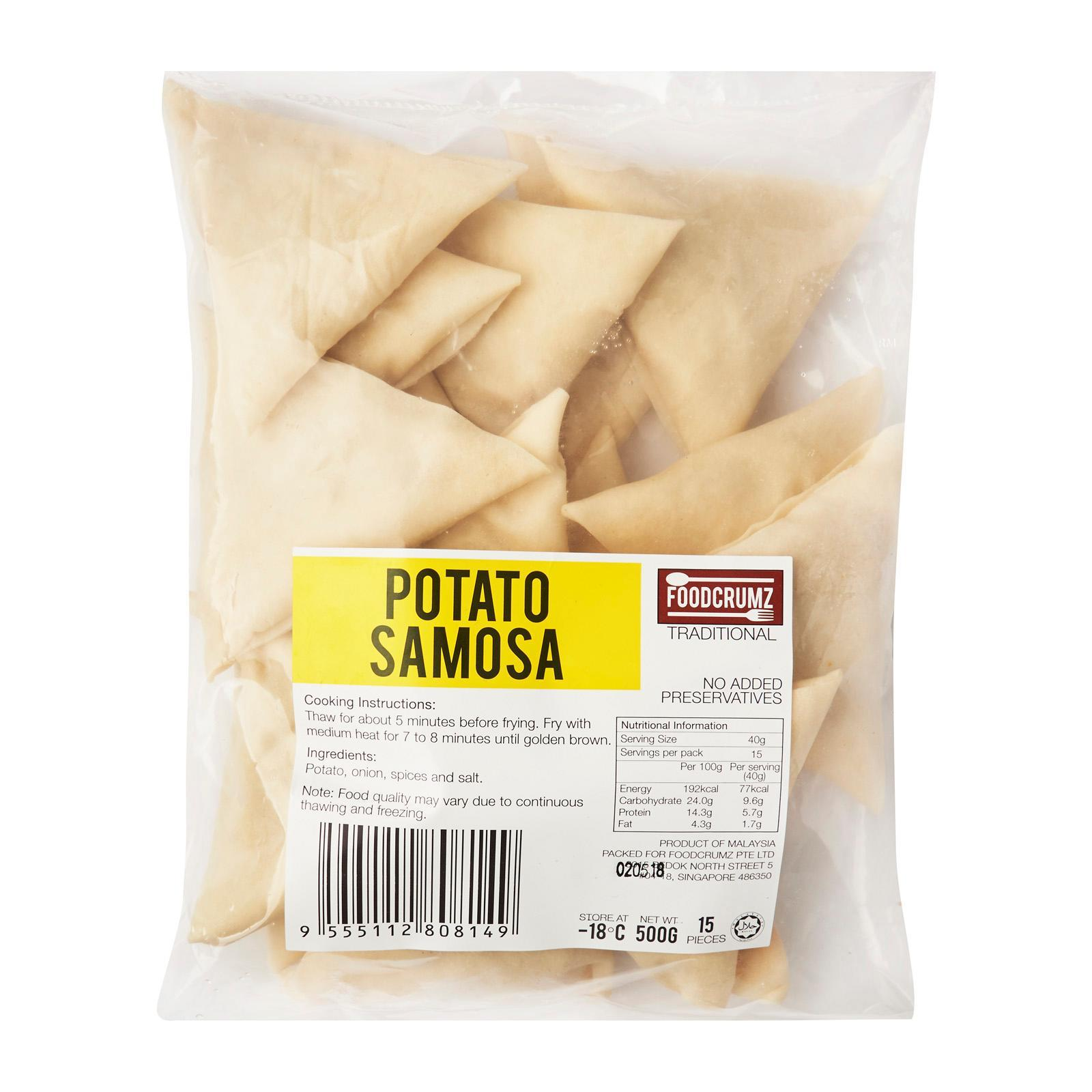 Foodcrumz Potato Samosa - Frozen