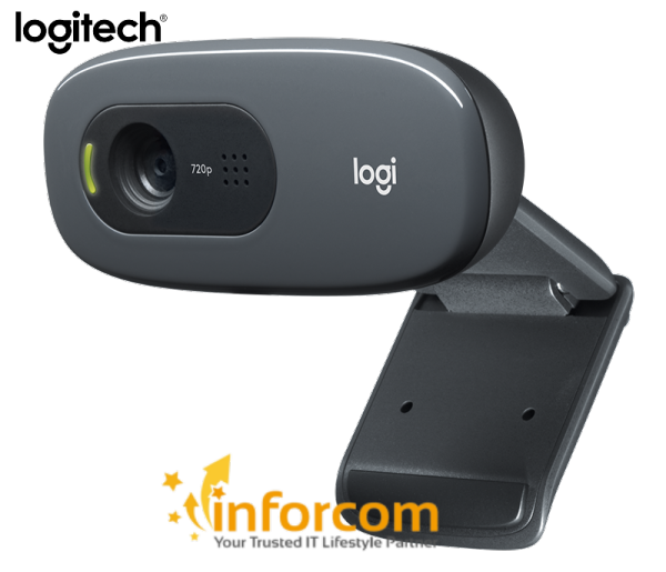 Logitech C270 Webcam HD 720 p Plug and Play Video Calling and Recording Webcam ( Work From Home, Home Based Learning)