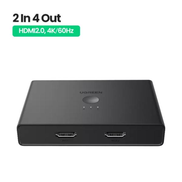 Ugreen HDMI Splitter 2 In 2 Out for Xiaomi Mi Box Xbox 4K/60Hz HDMI Switch Splitter