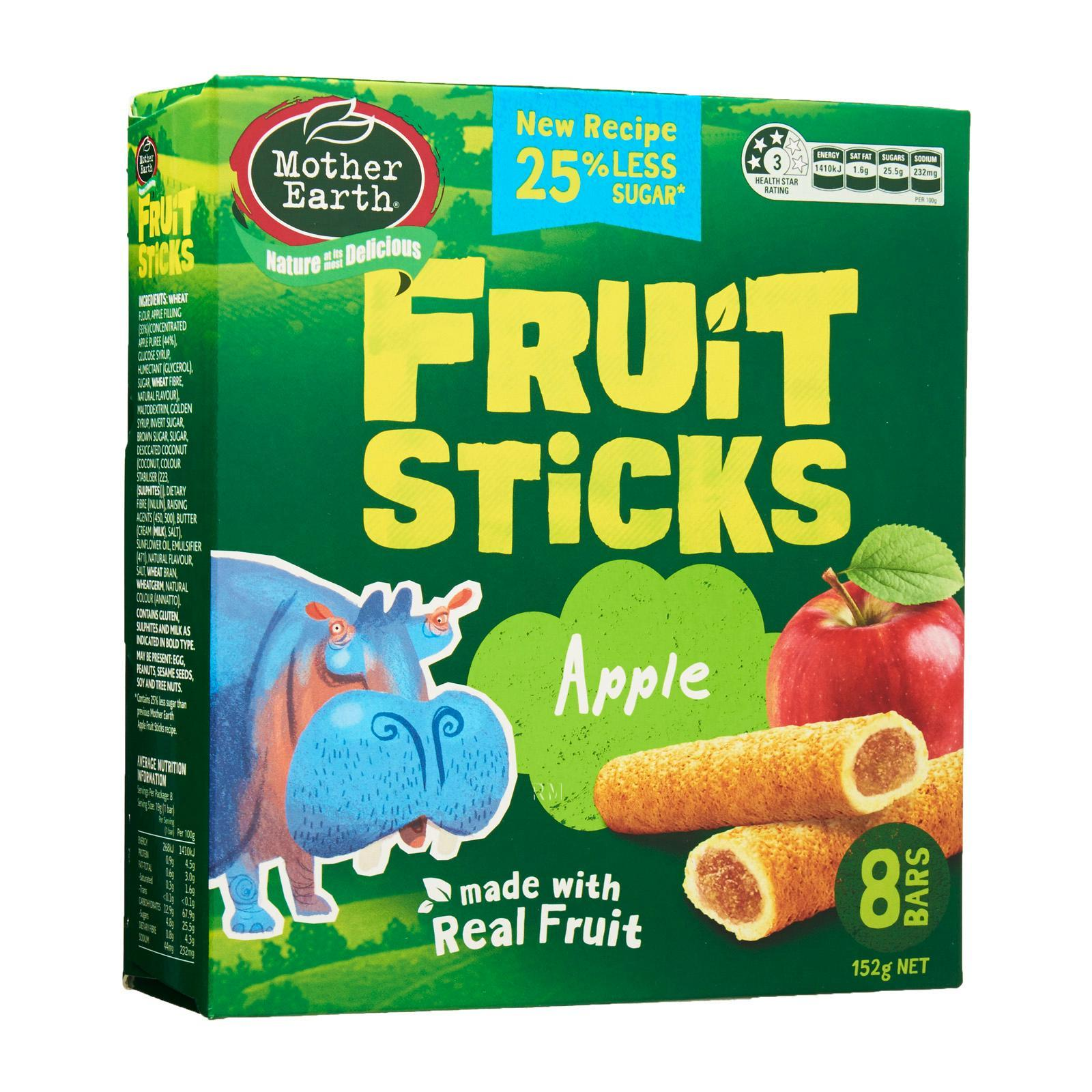 Mother Earth Baked Fruit Sticks Snack Bar Apple - by Optimo Foods