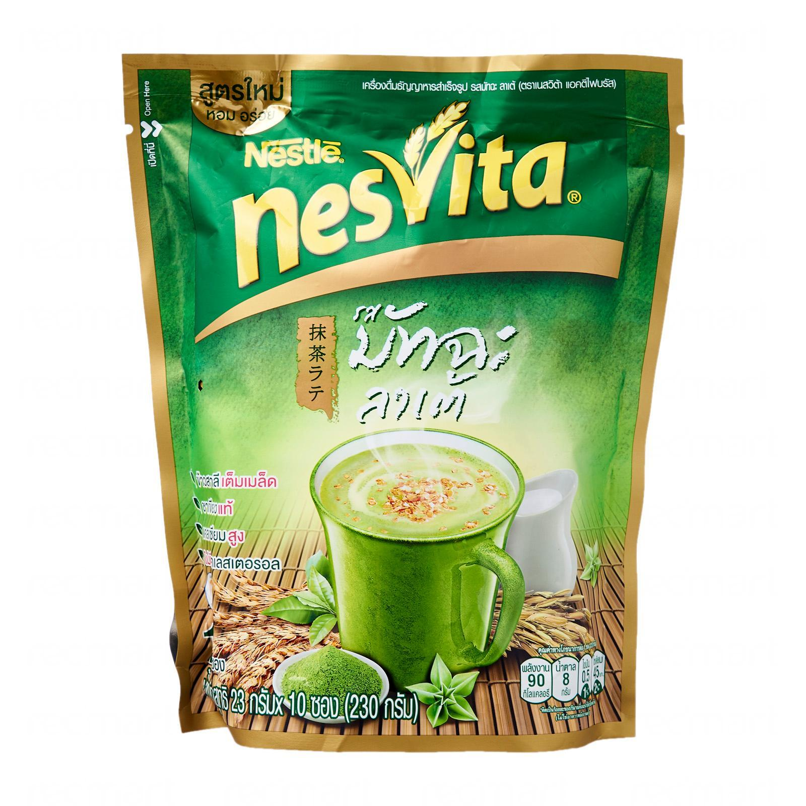 Nesvita Matcha Latte Instant Cereal Beverage (nestle) By Redmart.