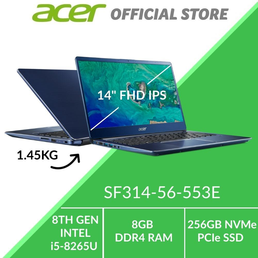 Acer Swift 3 SF314-56-553E Thin and Light Laptop (Blue) - Intel i5-8265U Processor