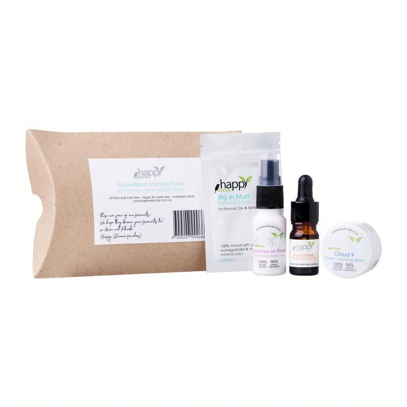 Buy Happy Skincare Super-Sized Sample Pack for Normal/Dry/Sensitive Skin Singapore