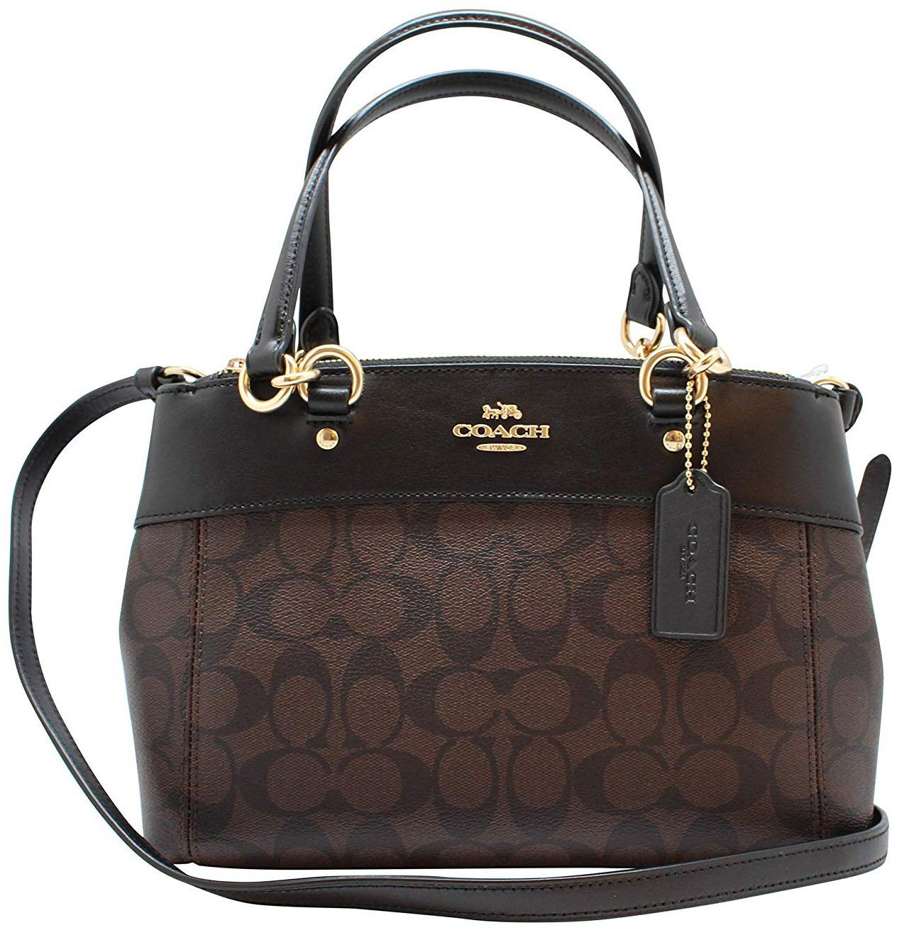 ff6c5ded8f Coach Mini Brooke Carryall Crossbody Bag Handbag Brown   Black   Gold    F26139 + Gift