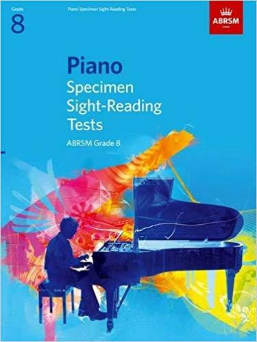 ABRSM Piano Specimen Sight-Reading Tests Grade 8 - Piano Book - Music Book - Absolute Piano - The Music Works Store MB1