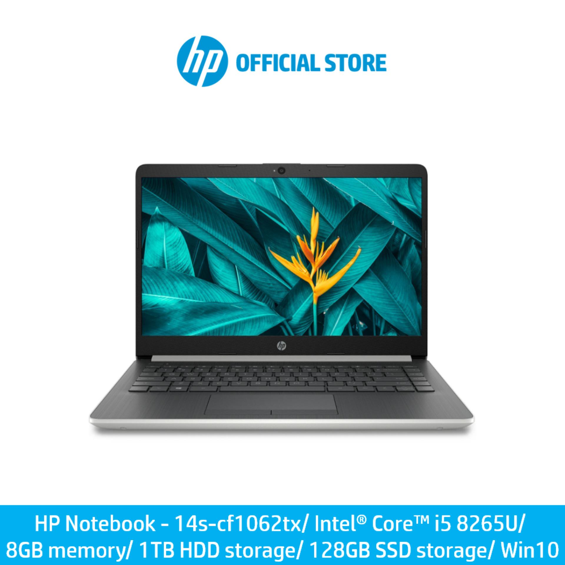 HP Notebook - 14s-cf1062tx/ Intel® Core™ i5 8265U/ 8 GB memory/ 1 TB HDD storage/ 128 GB SSD storage/ Win 10