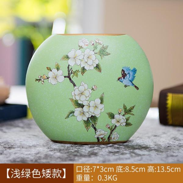Originality European Style Ceramic Vase Imitation Flowers Flower Arrangement Dried Flower Holder American Living Room 58 New Year Decorations Decoration