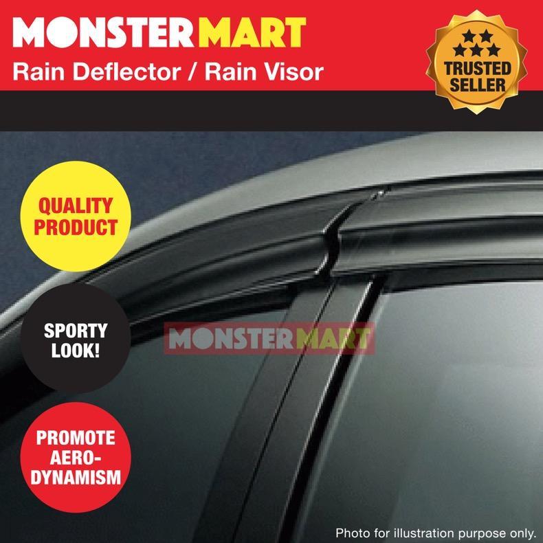 Toyota Vios 2013-2018 Mugen Styled Rain Visor By Monstermart.