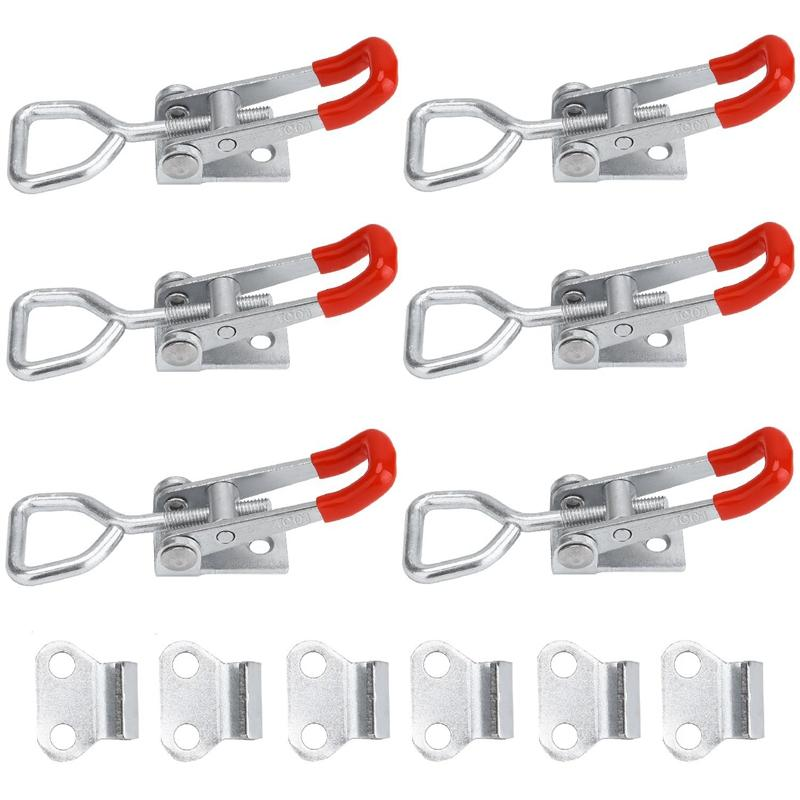 4001 Toggle Latch Clamp Heavy Duty Hand Tool, Holding Capacity Toggle Lock Clip 4001,100 Kg 220 Lbs 6Pcs