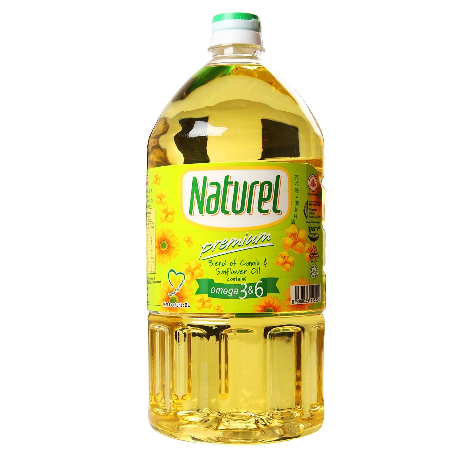 Naturel Premium Canola And Sunflower Oil By Redmart.