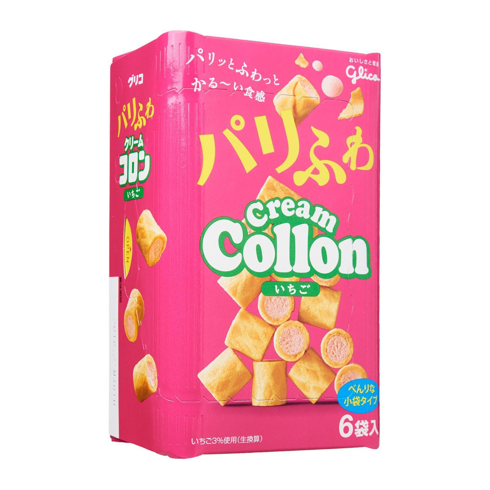 Glico Collon Strawberry Flavor Biscuit Roll