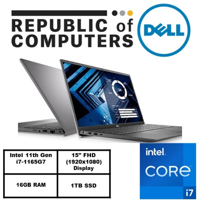 New 11th Gen (READY STOCK) New Vostro 15 3500- Intel® Core™ i7-1165G7/Windows 10 Pro/Intel® Iris® Xe Graphics /16GB RAM/1TBSSD/3 years warranty