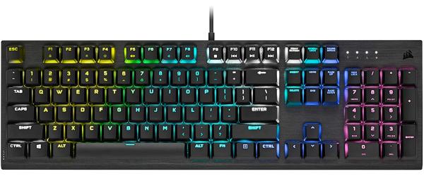 Corsair K60 RGB Pro Low Profile Mechanical Gaming Keyboard - Cherry MX Low Profile Speed Mechanical Keyswitches – Slim and Streamlined Durable Aluminum Frame - Customizable Per-Key RGB Backlighting Singapore