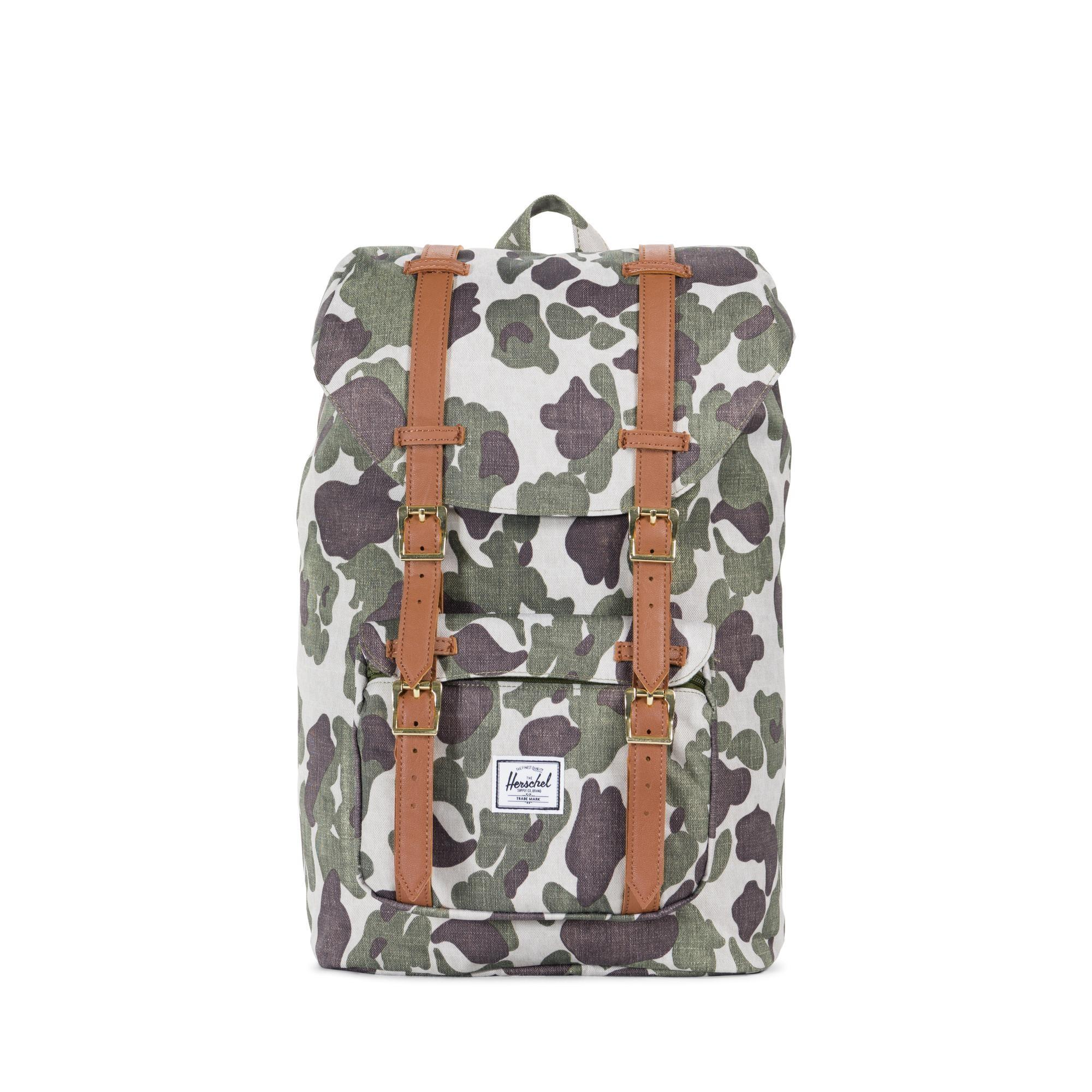 009267a3c43a Herschel Little America Mid-Volume - Frog Camo Tan Synthetic Leather