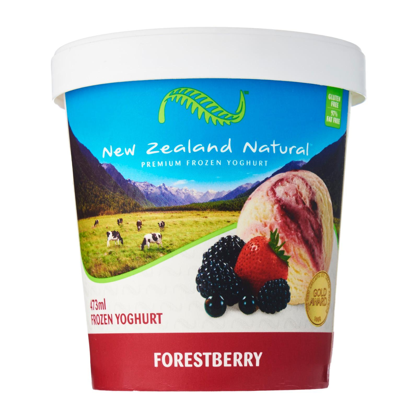 New Zealand Natural Ice Cream - Forestberry Yoghurt By Redmart.
