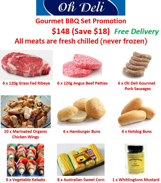 Oh Deli Gourmet Bbq Set Promotion (all Meats Are Fresh Chilled - Never Frozen) By Ohdeli.com.sg.