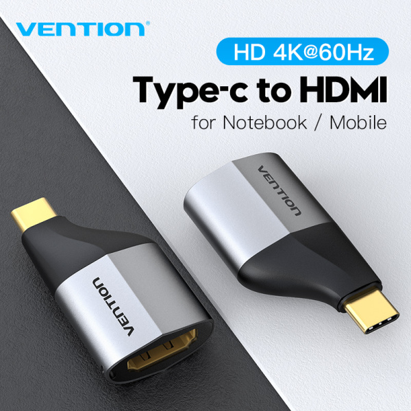 Vention USB Type C HDMI Adapter USB C to HDMI 2.0 Adapter 4K 60Hz UHD Smart Security Chip For MacBook iPad Laptop Samsung Galaxy S10/S9 Huawei Mate 20 P20 Tablet To TV Monitor Type C To HDMI Adapter