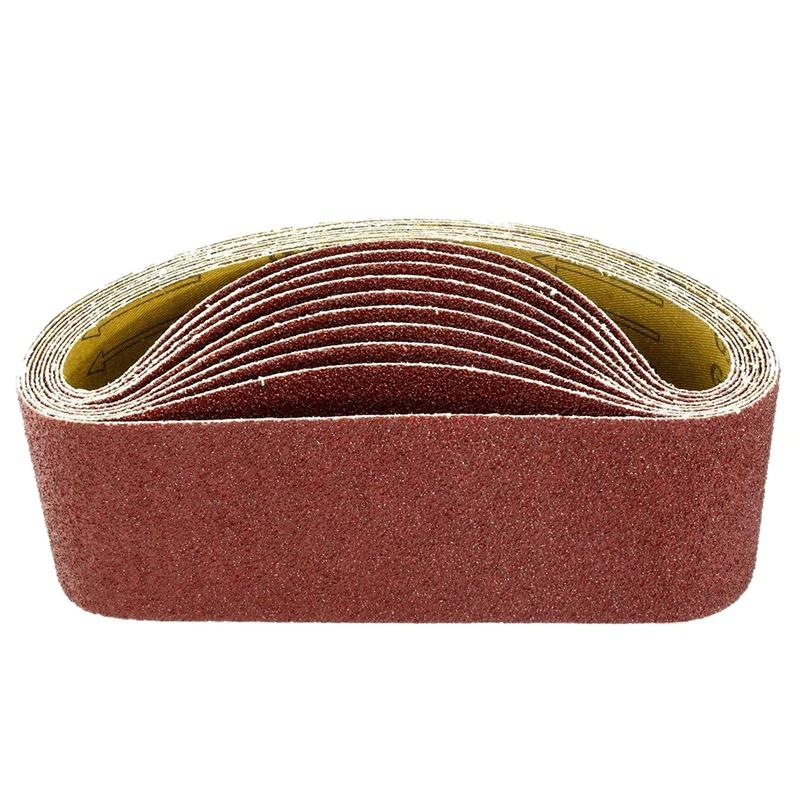 3 X 21Inch Sanding Belts | 240 Grit Aluminum Oxide Sanding Belt | Premium Sandpaper For Portable Belt Sander – 10 Pack