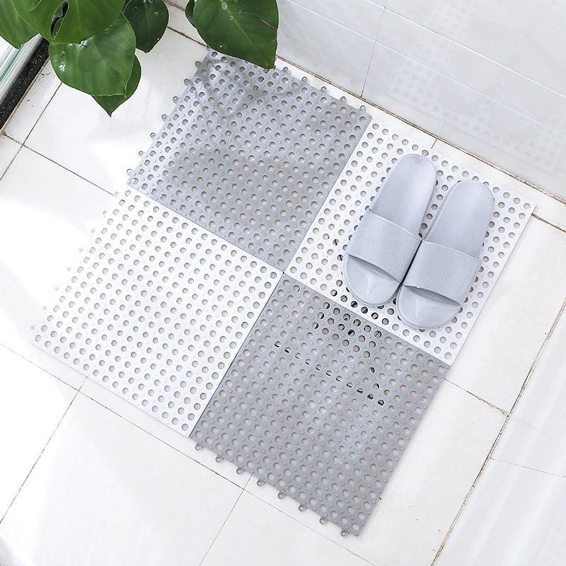 29.5X29.5Cm Bathroom Mat Bathroom Splicing Mat Bathroom Toilet Partition Mat Shower Room Bath Mat Gray