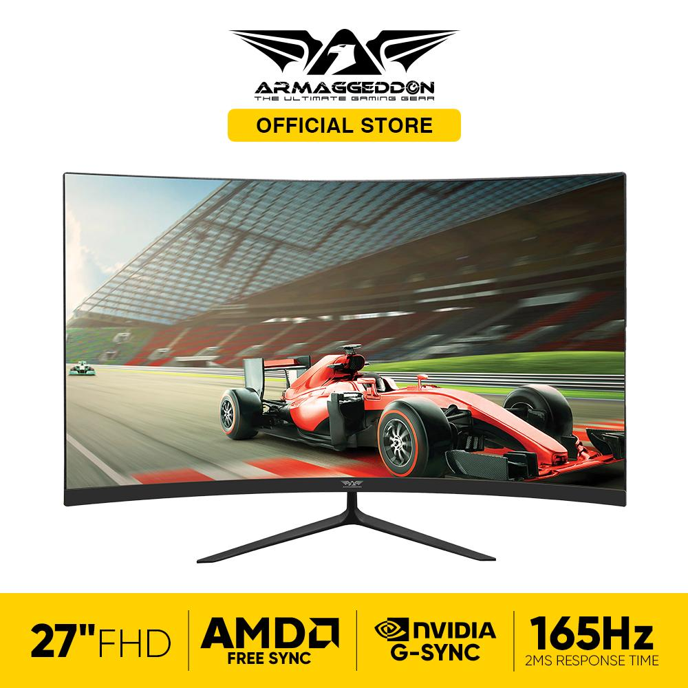 Armaggeddon Pixxel+ XTREME XC27 Full HD Gaming Curve Monitor With 165hz and 2ms Response Time [Free SoundBar]