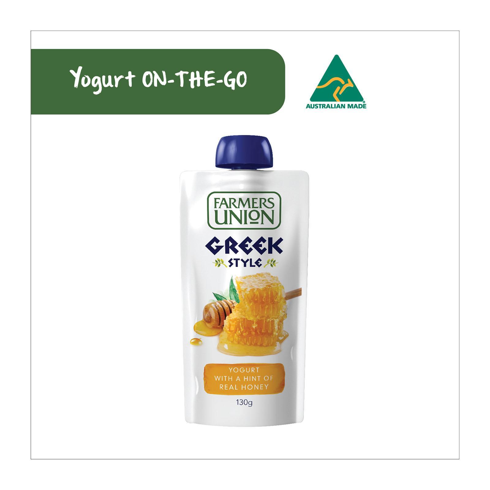 Farmers Union Greek Style Yoghurt Pouch Honey