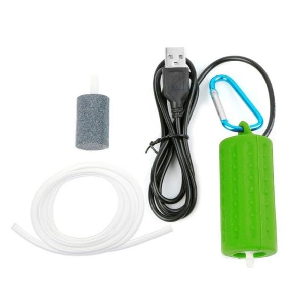 Bộ Lọc Không Khí Oxy Cho Bể Cá, Phụ Kiện Bể Cá Cỡ Nhỏ USB, Chức Năng Siêu Im Lặng, Tiết Kiệm Năng Lượng Cao