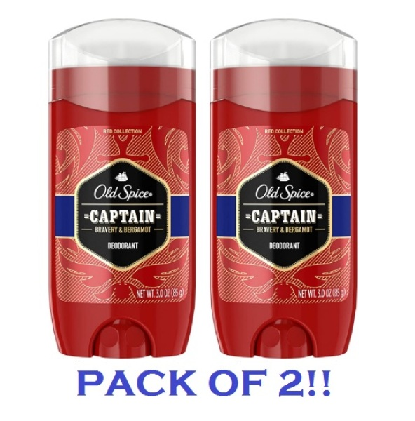 Buy Old Spice Red Collection Captain Scent Deodorant for Men, 3.0 Oz. (PACK OF 2!!) Singapore