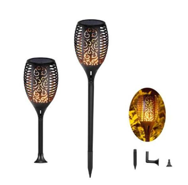 UK Outdoor Lawn Light Flickering Flame Solar Garden Lamp Waterproof