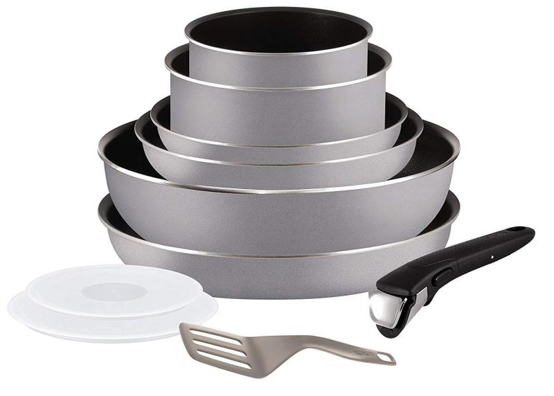 Tefal Ingenio 5 Essential Grey All cooktop 10 pc except induction (SG Seller)(Preorder will arrive 7-15 working days) Singapore