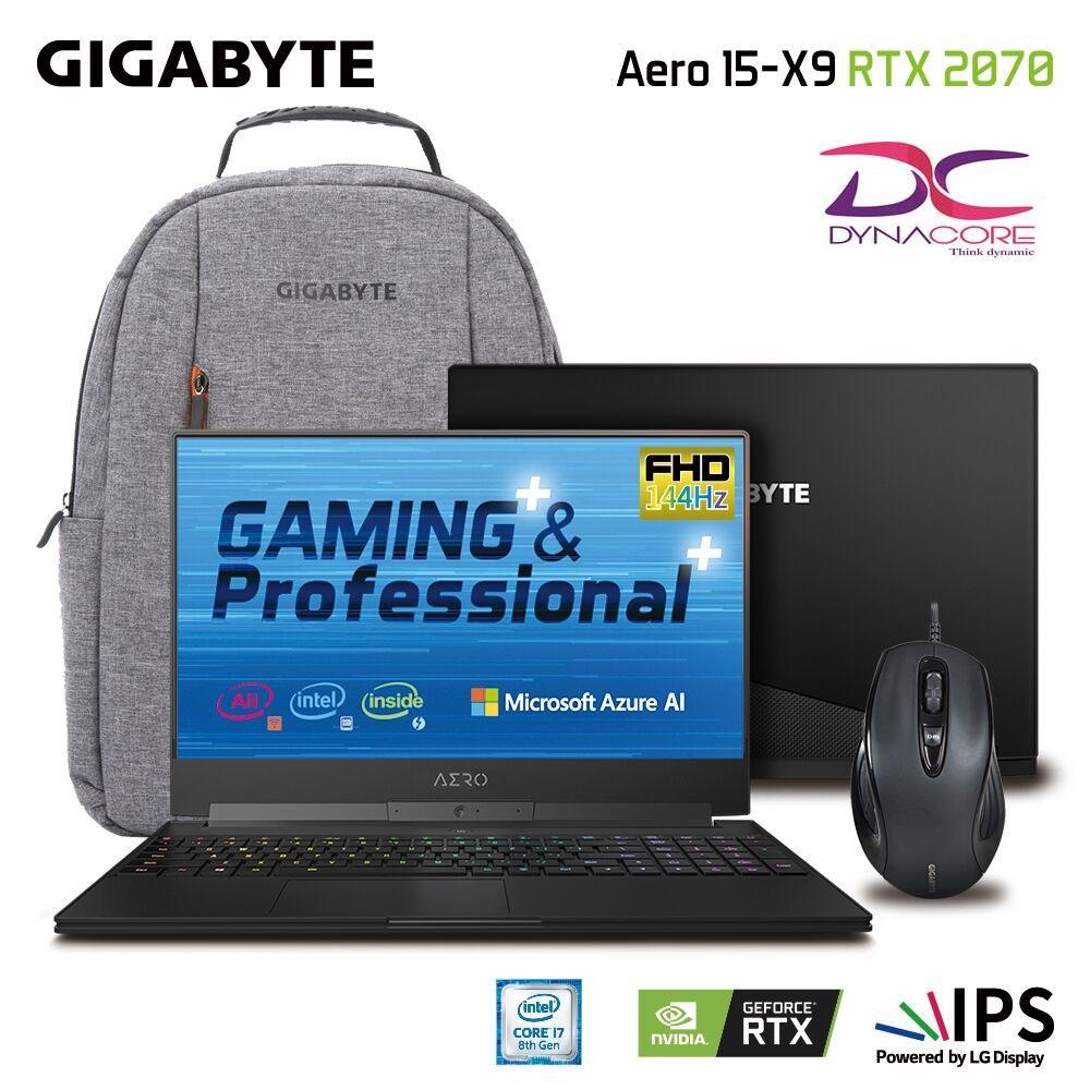 Gigabyte Aero 15X v9 FHD 144Hz 15.6 In i7-8750H RTX 2070 GDDR6 8GB Win10Pro (2Y Warranty)