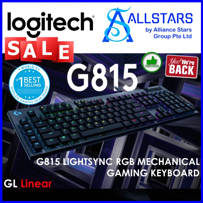 (ALLSTARS : We are Back / Gaming PROMO) Logitech G815 Mechanical Keyboard (LINEAR) (920-009223) (Warranty 2years with Local Distributor BanLeong) Singapore