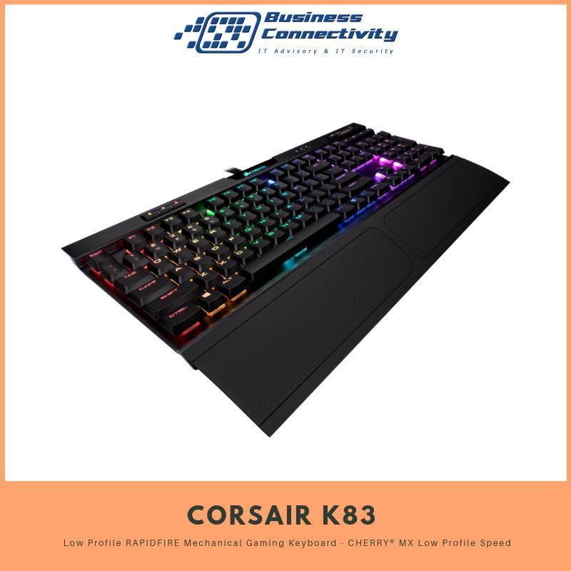 CORSAIR K70 RGB MK.2 Low Profile RAPIDFIRE Mechanical Gaming Keyboard - CHERRY® MX Low Profile Speed Singapore
