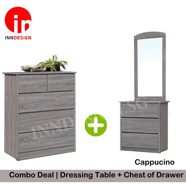 [Local Seller] Combo Deal - Dressing Table + Chest of Drawer (Free Installation + Delivery Within 1 Working Days)