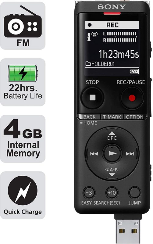 Sony ICD-UX570F Voice Recorder BLACK Singapore