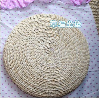 Straw Bamboo Weaving Japanese Style Solid Wood Tatami Teapoy Table Bay Window Table Small Terrace/Patio Window Deck Short Kang Table Block