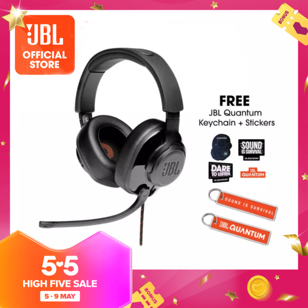 JBL Quantum 300 Gaming Headset with Microphone + Quantum keychain + Quantum Stickers Singapore