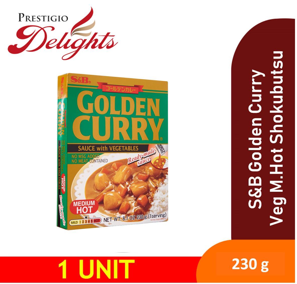 S&b Golden Curry With Vegetables Medium Hot Shokubutsu 230g By Prestigio Delights.
