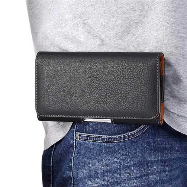 VIVO Y55 Y75s Y71 Hang Waist Phone Case Belt on Phone Case Wallet Leather Case Wear Belt Cross 3