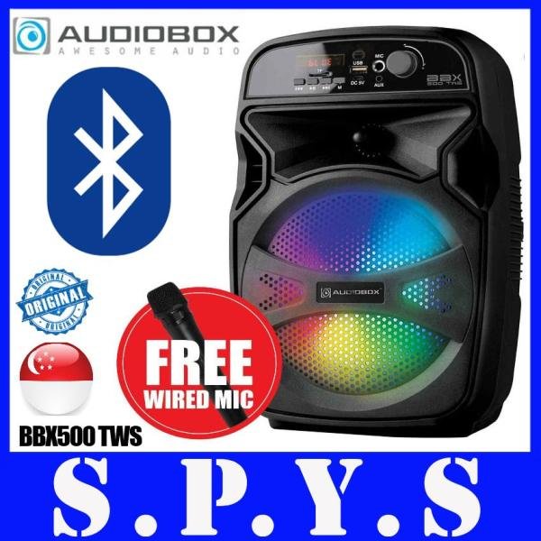 Audiobox BBX500 TWS Speaker System. Bluetooth. USB Input. Memory Card Input. Rechargeable. Portable. 1 Year Warranty. Singapore