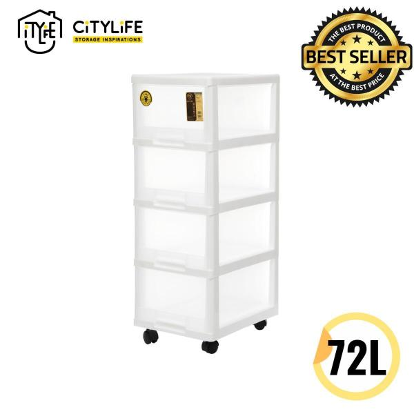 Citylife 72L 4 Tier Comfort Cabinet with Wheels