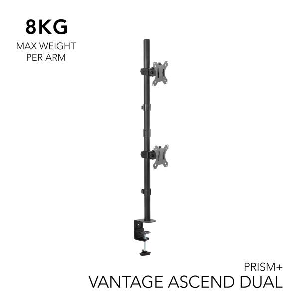 PRISM+ Vantage Ascend Dual Monitor VESA Monitor Arm