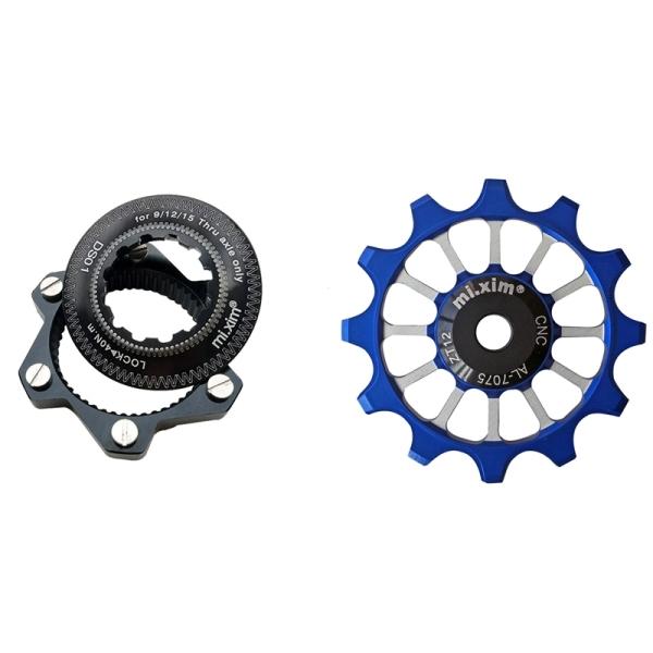 Mua Mi.Xim 6-Bolt Rotor Disc Adaptor Aluminum Bicycle Hubs Black & Bike Derailleur Pulley 12T Bicycle Wheels Pulle