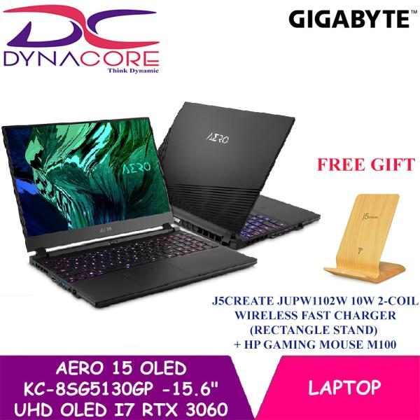 DYNACORE - Gigabyte AERO 15 OLED KC-8SG5130GP - 15.6 UHD OLED   i7-10870H   RTX 3060 GDDR6 6GB   16GB DDR4 (8GBx2)   512GB M.2 PCIe   Win 10 Pro   BAG