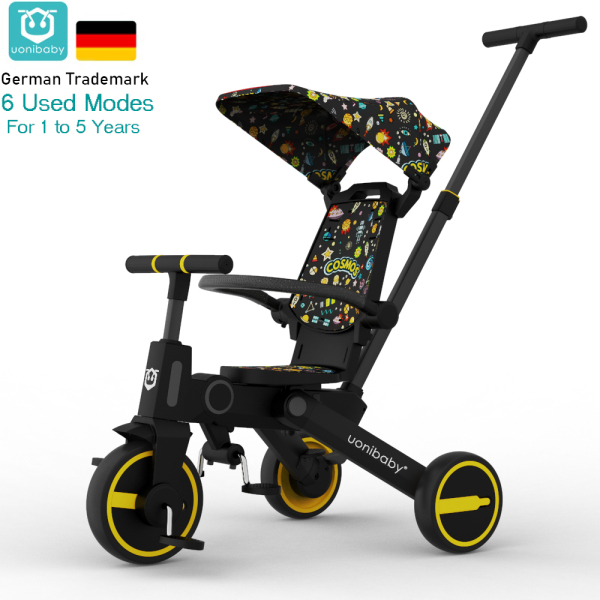 uonibaby 6 into 1 Baby Stroller Pedal Tricycle Three Wheel Bike Trolley Viya Live Style Singapore