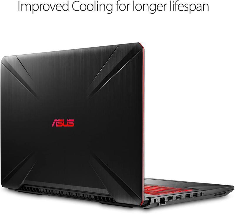 "Asus FX504 TUF Gaming Laptop, 15.6"" Full HD, 8th Gen Intel Core i7-8750H Processor, GeForce GTX 1050 Ti, 8GB DDR4, 256GB M.2 SSD, Gigabit WiFi, Windows 10"