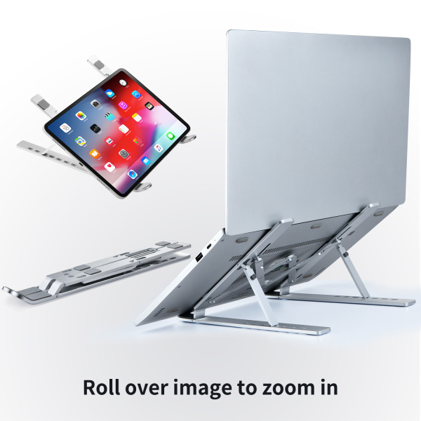 【SG Seller】 Laptop Stand Ergonomic Height Adjustable Portable Aluminum Stand for all kind of Laptop brands