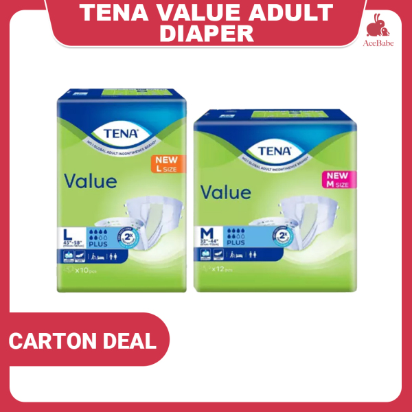 Buy [CARTON DEAL]TENA Value Adult Diapers Available In M L Singapore